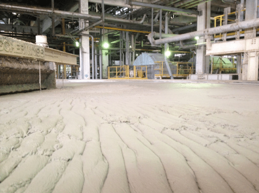 """The """"FOG blanket"""" formed by EDUR pumps at a process plant in Europe."""