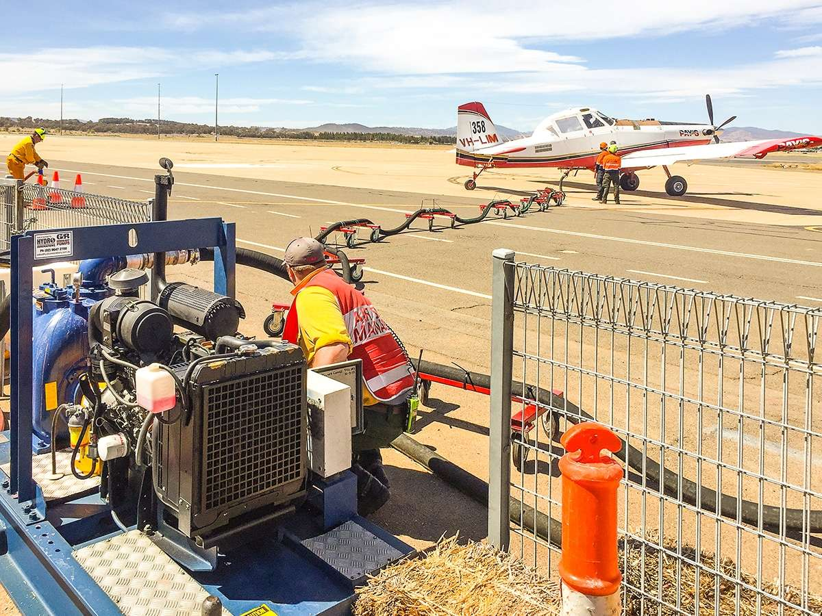 ACT-emergency-services-use-gorman-rupp-t-series-to-refill-air-tankers-to-fight-nsw-fires