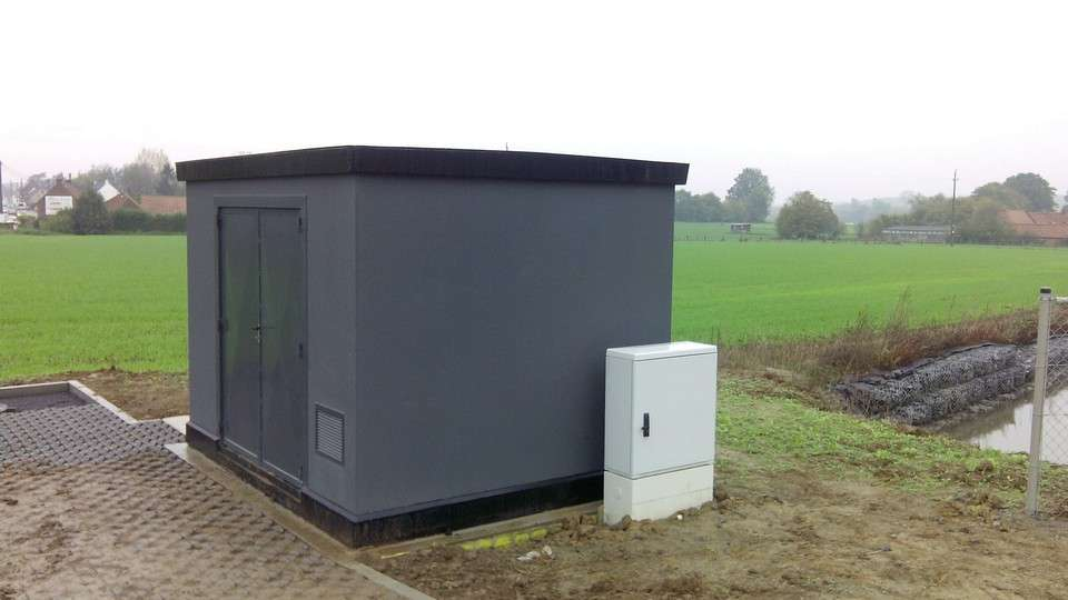 Gorman-Rupp ES concrete base mounted pump enclosure