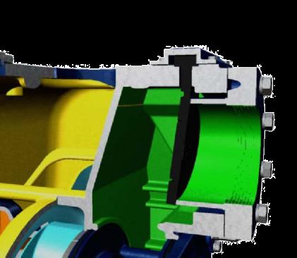 Cross section of Gorman-Rupp pump