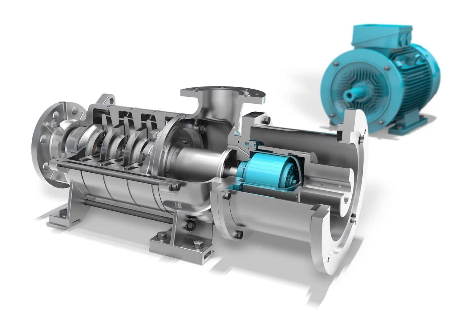 EDUR refrigerant pump uses magnetic couplings