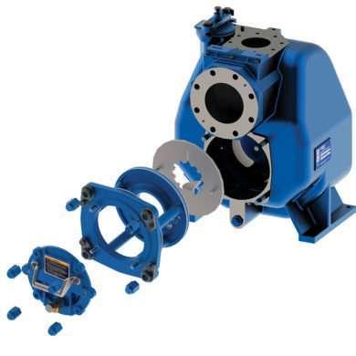 Gorman-Rupp Ultra V with eradicator - high presure solids handling pump
