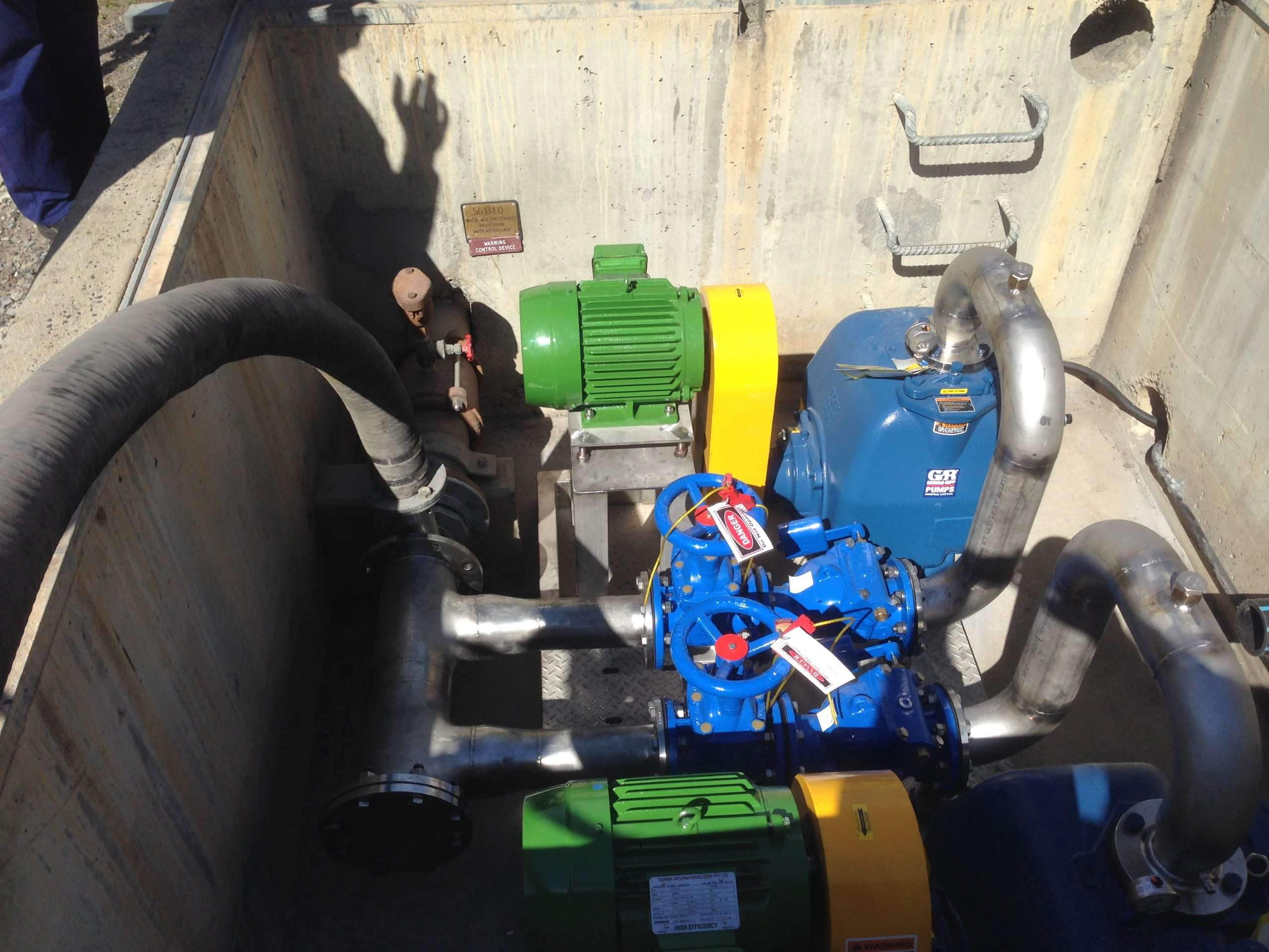 Mount Piper innovative solution to sewage pump station