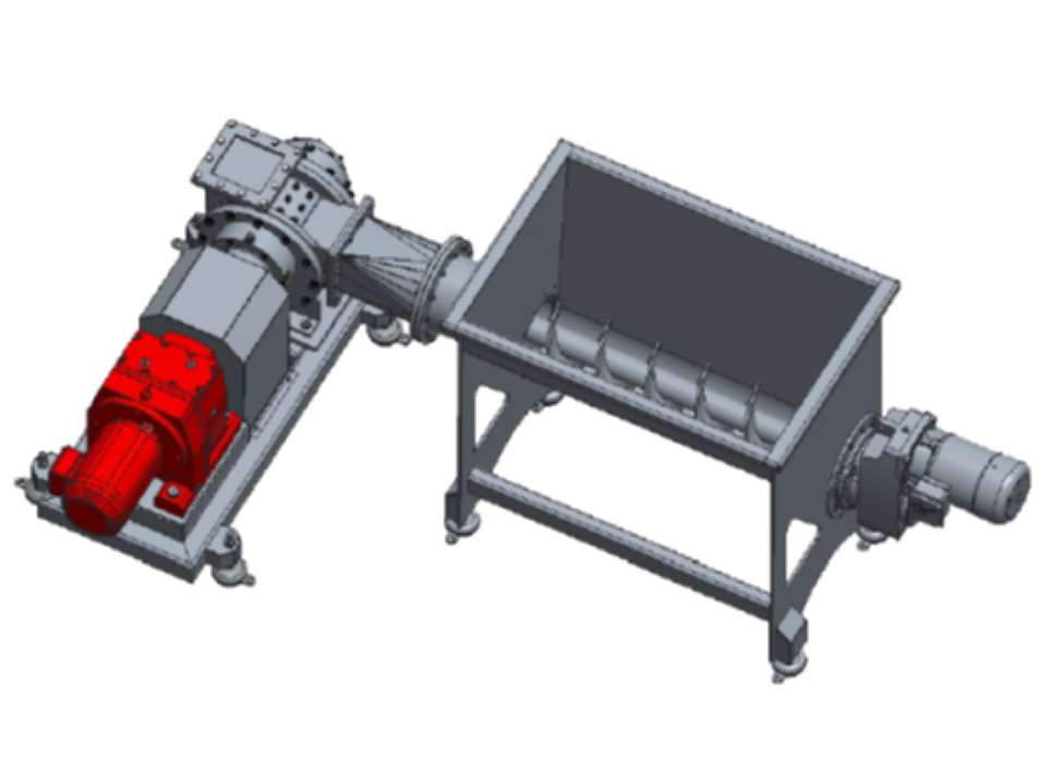 Lamella pump shown in typical rendering application 2