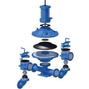 Ramparts Diaghragm pump for sludge, slurry, mud and other heavy liquids