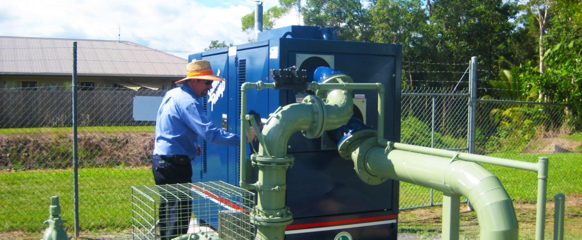 Cairns Council stand by self priming pump