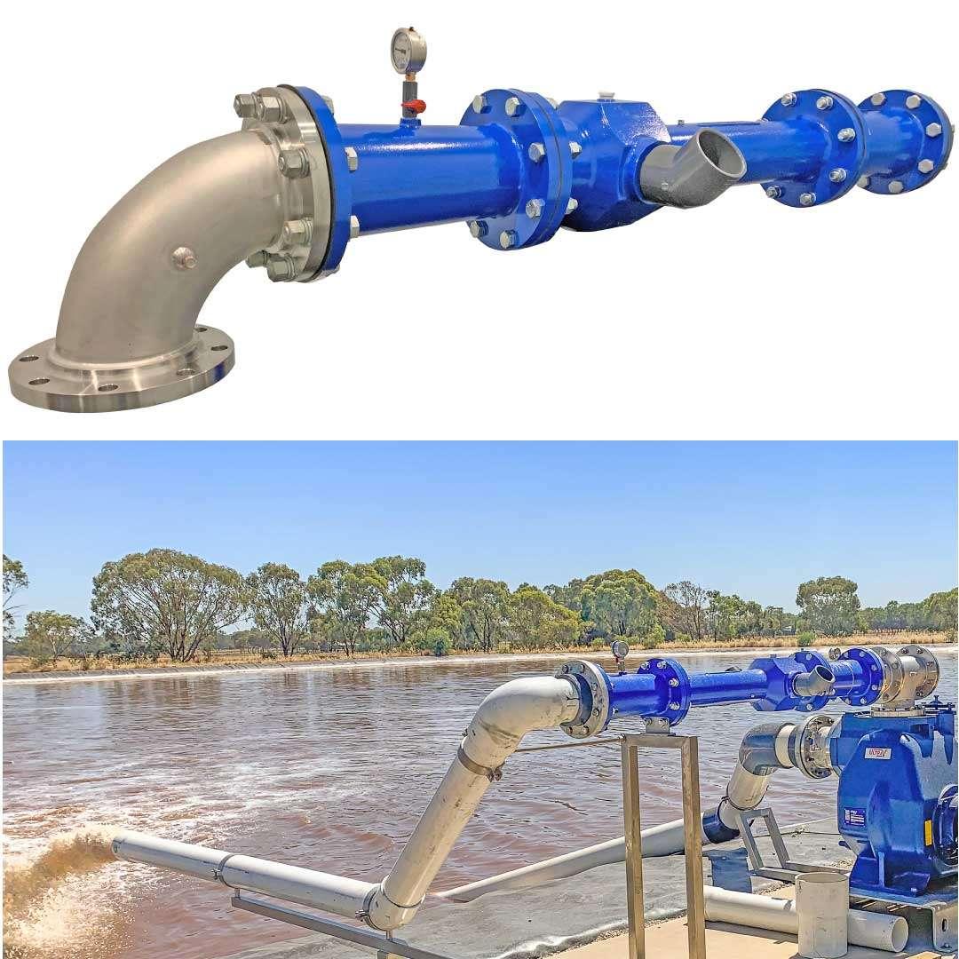 Venturi-Aerator simple bank mounted waste water aeration 1080