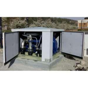 ES 200×200 – low profile packaged sewage pump station