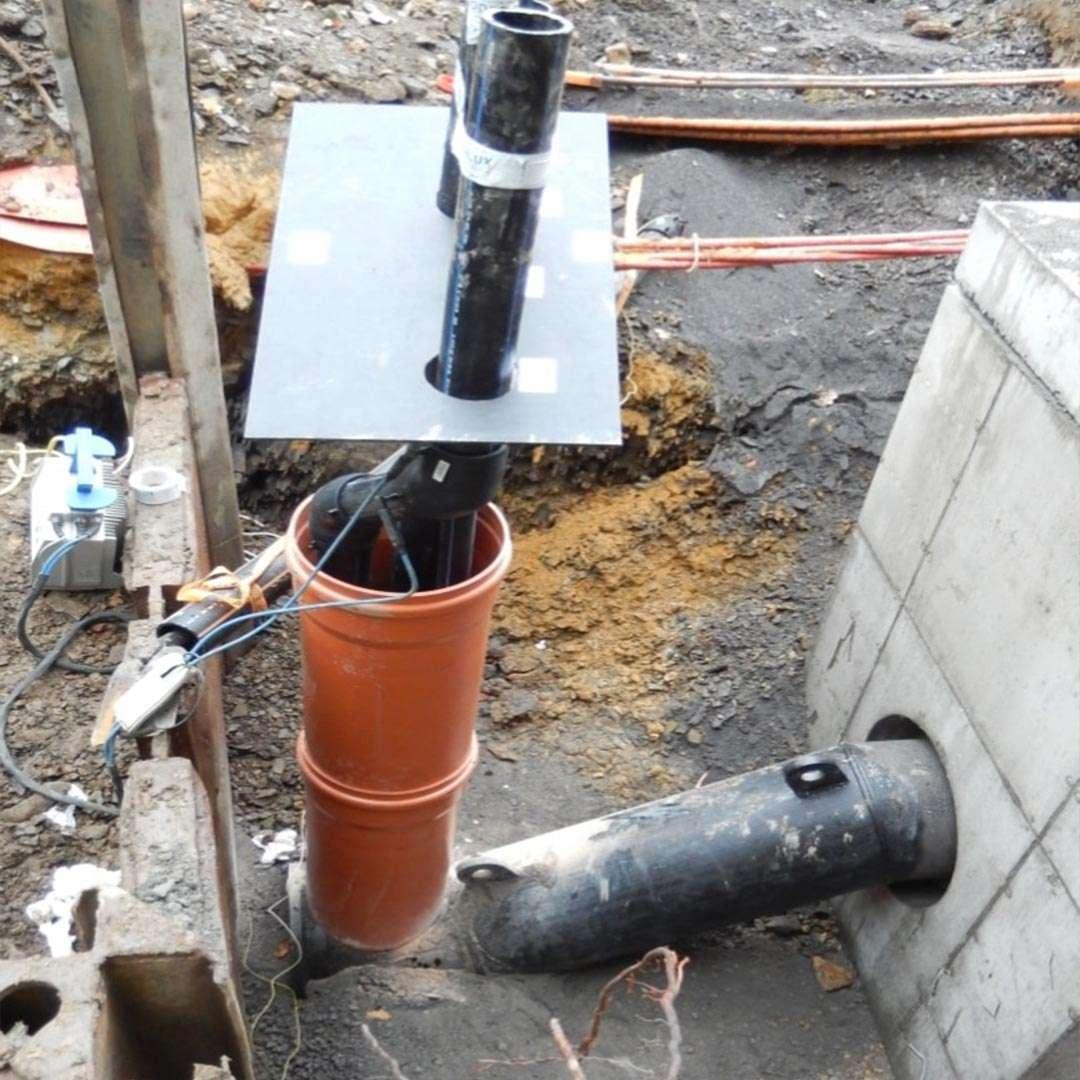 self cleaning sump easy pump installation ready for back-filling