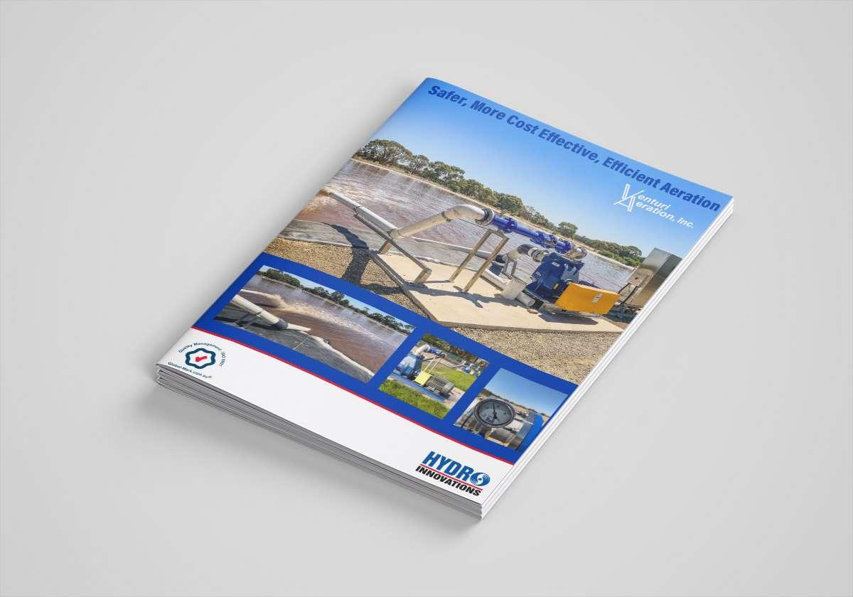 venturi aeration lagoon wastewater aeration brochure cover