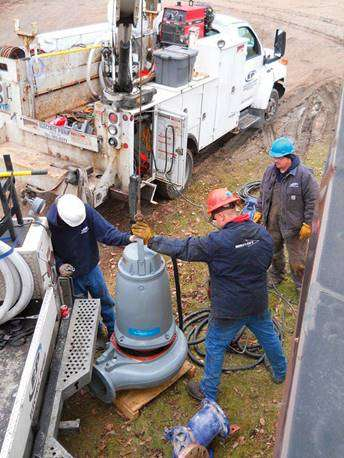 there are many WHS issues when servicing a submersible pump